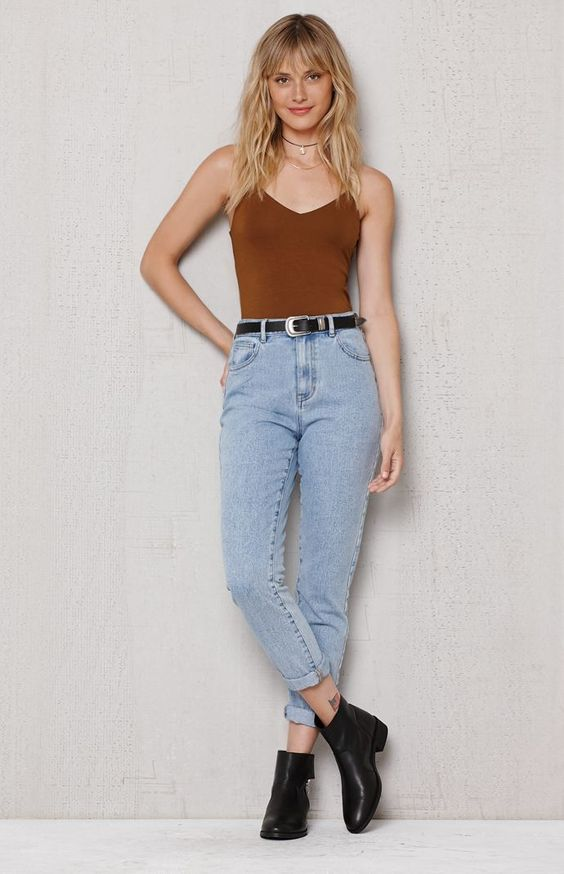Boyfriend Jeans Tiro Alto 1 - Her Closet